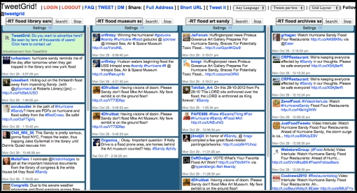 tweetgrid multi-column search